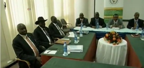 South Sudanese delegates at the last peace talks in March, 2015, in Addis Ababa, Ethiopia(Photo: VOA/Nyamilepedia)