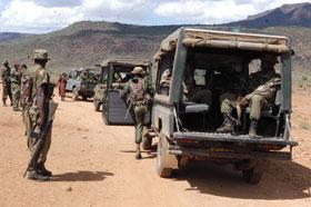 Kenyan Defense Force deploying troops in Nadapal, Kapoeta, South Sudan(Photo: Peter Ochieng)