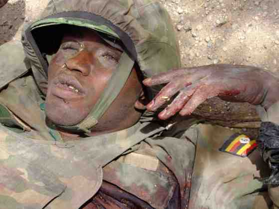 Ugandan Soldier Killed in action (Photo supplies)