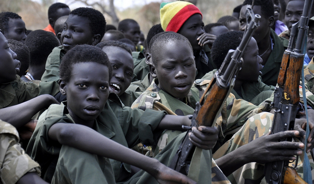Hundreds of children are believed to have been kidnapped by forces of Johnson Olony to be used at the frontline to defense the government installations in Malakal and other parts of Upper Nile(Photo: Guardian)
