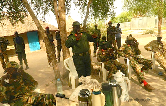 Maj. Gen. Simon Gatwech Dual, the Chief of General Staff for SPLA/SPLM-IO drinking coffee rebel held territory in Jonglei State, South Sudan(Photo: File/Nyamilepedia)