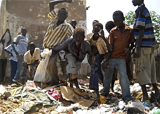 Street children in South Sudan