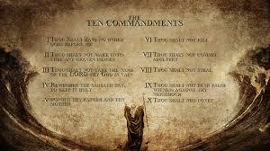 The Ten Commandments Stand ....