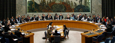 Members of the UN Security Council sitting around a round table.(Photo: UN)