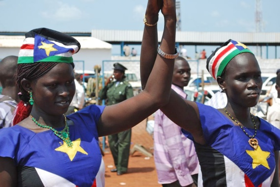 South Sudan women in flag outfit to show their pride and nationalism towards the new founded South Sudan during its independent(Photo: file)
