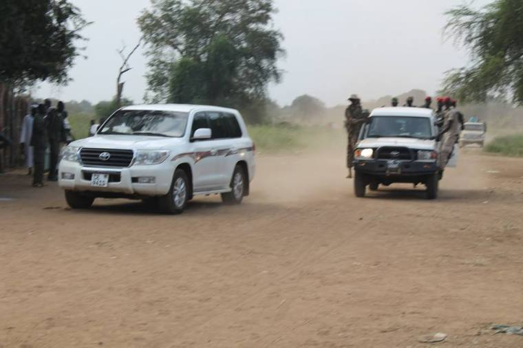 Dr. Riek Machar Teny, the Chairman of SPLM-IO arriving in Pagak during the first conference of the opposition(Photo: Nyamilepedia)