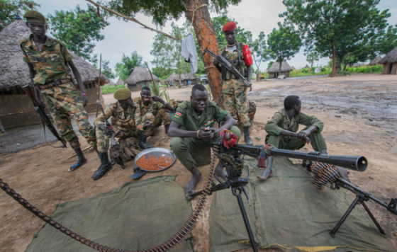 Members of South Sudan's SPLM/SPLA-IO fighting against Salva Kiir regime (Photo: Peter Biro/IRC.)
