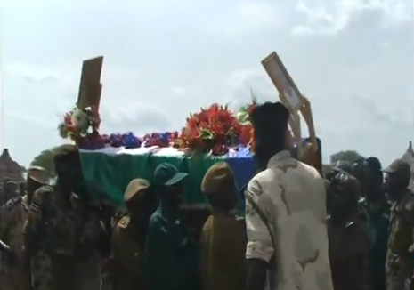 Andrew Wieu Riak's funeral in Baliet County, Upper Nile state, South Sudan(Photo: Nyamilepedia)