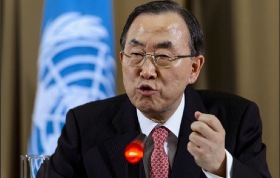 UN Secretary General, Ban Ki Moon, during a visit to South Sudan(Photo: file)