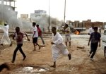 Image of South Sudanese running away from a bomblast station in the past(Photo: Naharnet)