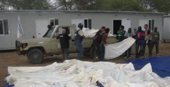 Bodies of Nuer IDPs massacred by government allied militia in Bor on April, 2014(Photo: Nyamilepedia)