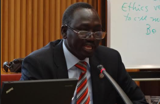 Dr. Dhieu Mathok Diing Wol, the head of foreign affairs committee with Sudan People's Liberation Movement in Opposition (SPLM-IO) and a member of its negotiation delegation with the government and other stakeholders.(Photo: file/Nyamilepedia)
