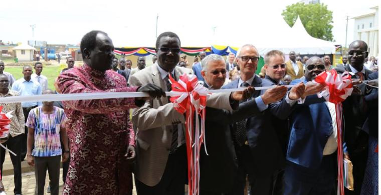 Minister of Education, John Gai Yoah, opening the 6.5 millions dollar facility on April 11, 2015(Photo credits: US Embassy, Juba, South Sudan)