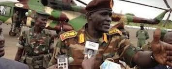 Maj.gen Johnson Olony at his return to Juba in June 2013(Photo: file)