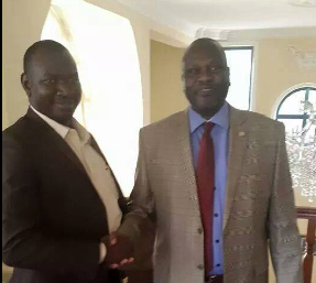 Joseph Clement Wani Konga pays Dr. Machar a visit in Addis Ababa, Ethiopia(Photo: supplied)