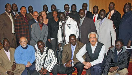 South Sudanese and friends posting for a group picture after Jonglei Peace Initiative North America conference in Washington DC in 2012, South Sudanese and experts are expected to converge here on April 8, 2015 to discuss the root causes and resolutions to South Sudan conflict(Photo: JPINA)