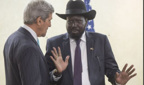 Kerry talking some sense into Kiir