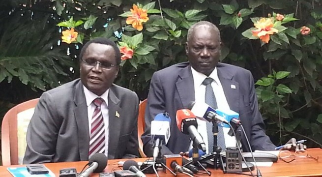 Government spokesman and the minister of information, Michael Makuei Lueth standing firmly against the western nations(Photo: File)