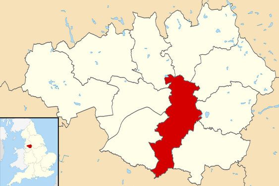 Manchester shown within Greater Manchester and England (Source: Wikipedia)