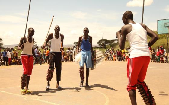 Nuer youth demonstration Nuer dance in Kakuma Refugees Camp, Kenya(Photo: file)