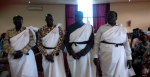 Members of loyal Nuer officials decrorating themselves in Juba in anticipation of Nuer led Pagak SPLM-IO conference when some of their seats in Upper Nile are in great danger(Photo Credits: Nuer Wew)