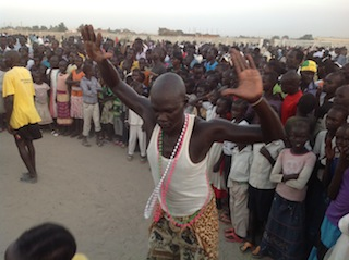 Nuer dancers from Unity state during Sunday's declarion of cultural activities in Bentiu Independent Stadium 10 November 2013 (Photo: file)