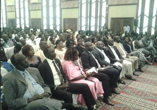 SPLM/SPLA Public Briefing on Arusha Agreement and Peace at Safari Park Hotel in Nairobi in mid January 2015(Photo: Nyamilepedia)
