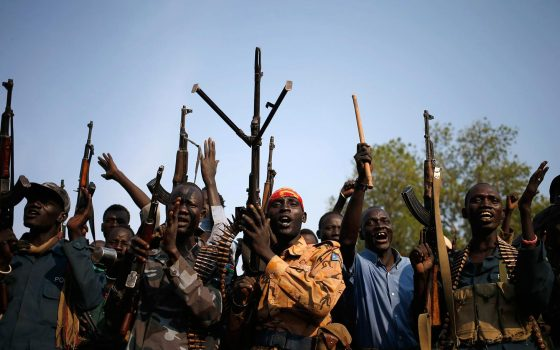 Members of South Sudan rebels celebrate their victories in Upper Nile in 2014(Photo: REUTERS/Goran Tomasevic/Files  (SOUTH SUDAN - Tags: POLITICS CONFLICT)