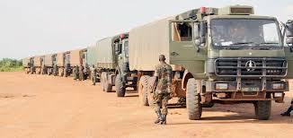 Ugandan convoy ...