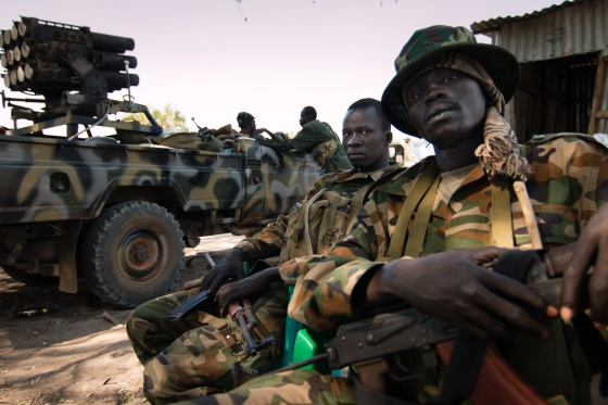 SPLA [Juba] troops after falling into ambush at Pariak in January 2014(Photo: file)