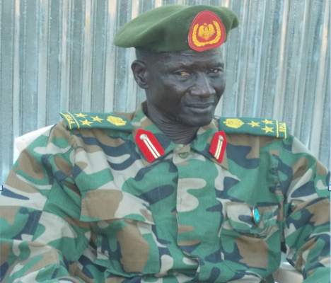 Gen. Tito Biel Chuor sitting at his residence in Juba 2013.(Photo: supplied)