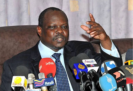Former SPLM Secretary Pagan Amum Okiech and the current member of G10 (Photo credit)