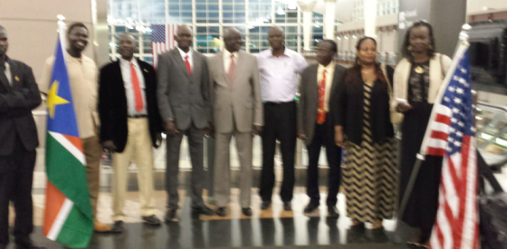SPLM/SPLA IO High level delegation Arriving in Denver, Colorado, USA on April 29, 2015(Photo: supplied)