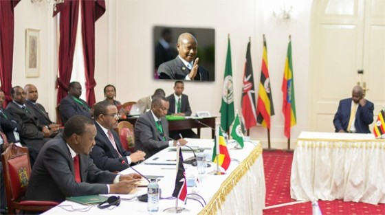 The Leaders of the compromised regional bloc, IGAD, IGAD summit heads of states and governments, deliberating on South Sudan conflict(Photo: IGAD)
