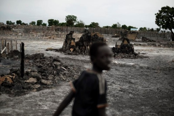 Leer, the home town of Dr. Riek Machar in Unity State, South Sudan, which government troops burned to ashes after the governement soldier attacked and burned it down, which resulted in many civilian casualties. Like in Leer the government troops are restricting humanitarian access in Guit and Koch, which they recent attacked and temporarily occupied(Photo:  supplied)