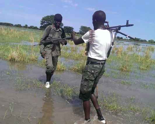 Members of Lou Nuer white army and SPLA-IO soldiers patrolling greater Lou-Nuer areas from the government led troops (Photo: file)