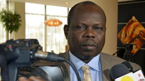 South Sudan's former political detainee, Pagan Amum Okiech speaks to voice of America (Photo