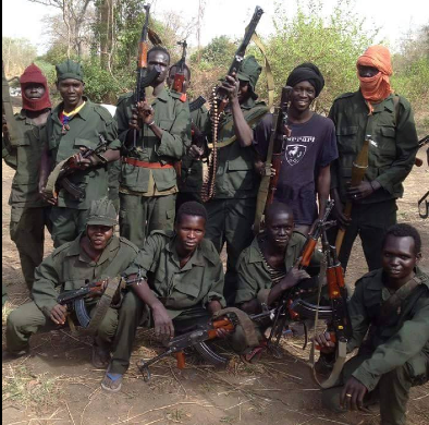 South Sudan rebels  somewhere in Warrap State(Photo: file)