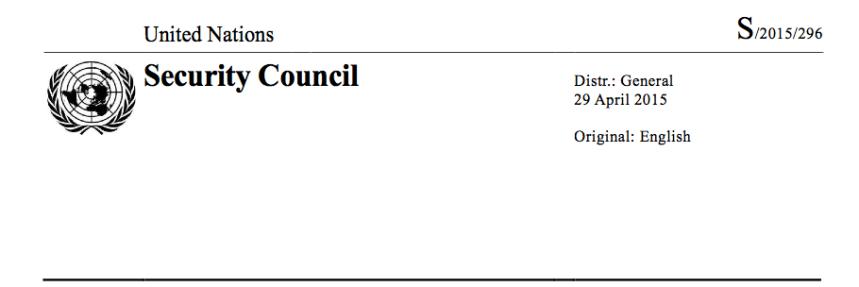 UN SEC REPORT
