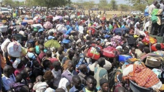 Internally Displaced Persons, IDPs in Bor UNMISS Protected Camp, South Sudan. [photo credit: Nyamilepedia]
