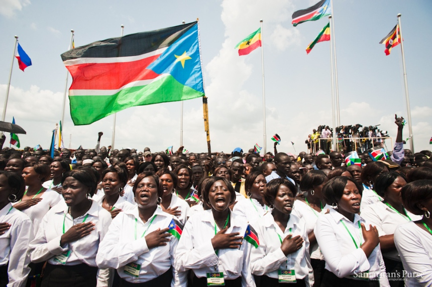 South Sudanese singing during the independent of the country in 2011(Photo: file)