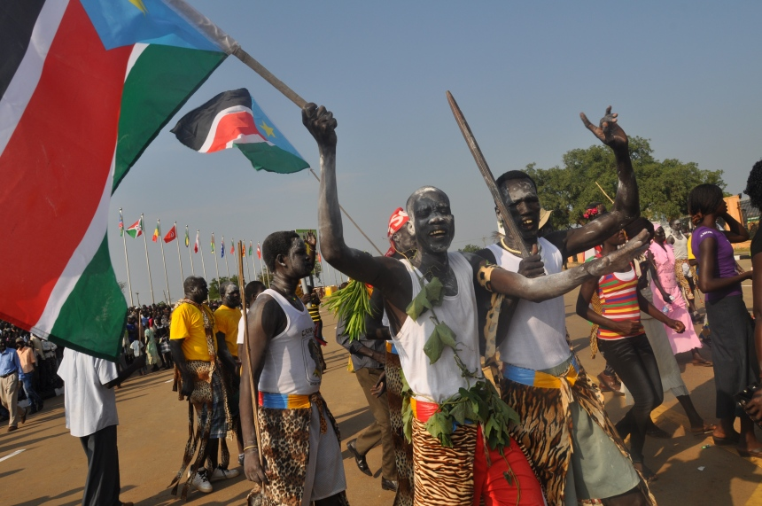 Young Dinka dancers celebrating South Sudan independent in 2011(Photo: Charlton Doki/IPS)