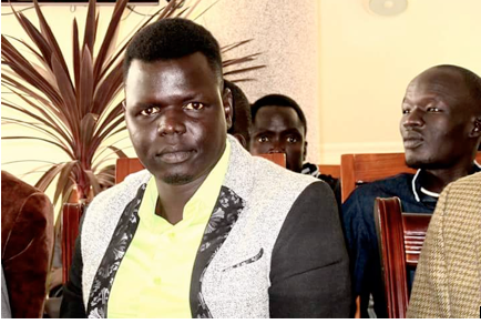 Paul.B., the Secretary of South Sudan Artists' Association in Ethiopia SSAAE in the picture with colleagues and artists in Ethiopia(Photo: Nyamilepedia)