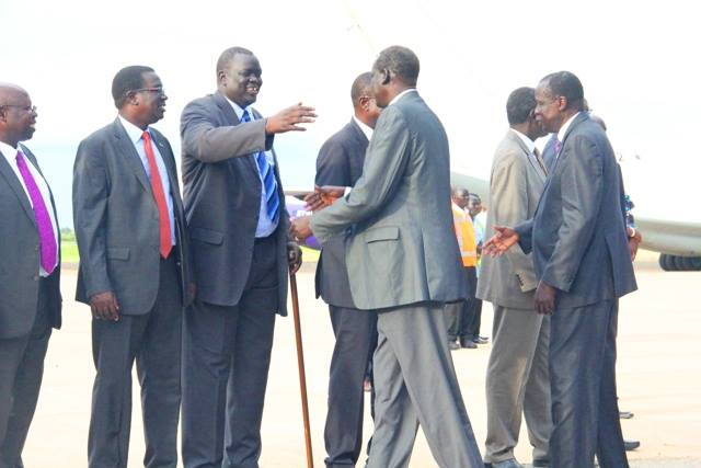 A delegation of the political detainees, who were arrested and sent to exile by Salva Kiir government, returns to Juba to renegotiate their return(Photo: supplied)