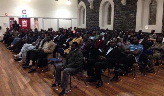 Jieng Community of Australia meeting SPLM/A delegation led by Amb. Lol Gatkuoth(Photo: Nyamilpedia)