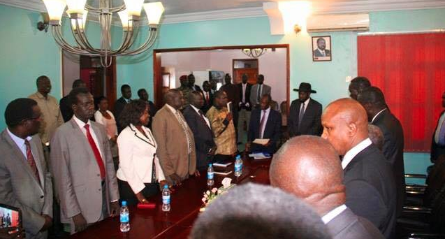 Cde Pagan Amum Okiech being reinstated into SPLM in government as the Secretary General(Photo: supplied)