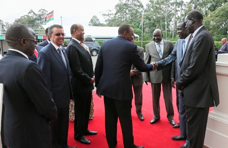 Kenyan president, Uhuru Kenyatta, agrees the former detainees, the G10, after a meeting to hold a parallel peace talks in Kenya(Photo: profiles)
