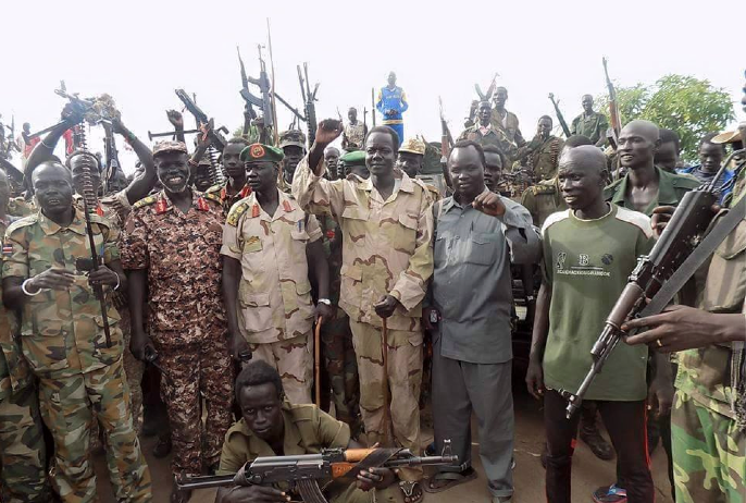 Members of South Sudanese- Australians are reported spotted fighting under Maj. Gen. Khamis Aldel-Latif, the former Director of South Sudan Radio and Television, currently fighting against injustice and bad governance in Unity State, South Sudan(Photo: supplied)