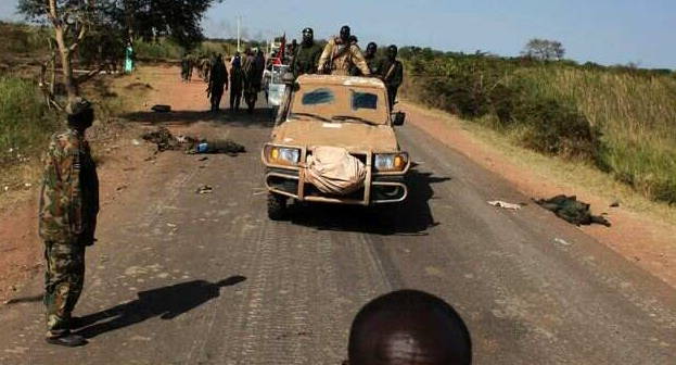 Rebel forces driving through Mayom, Unity State, after defeating a government troops in the area(Photo: file)