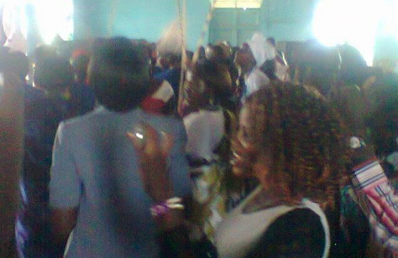 Nuer community in Arua dancing last night after the iaun of a new leadership(Photo: supplied)